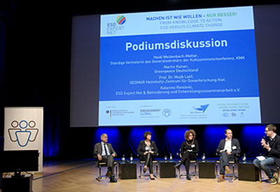 Five participants at the panel discussion